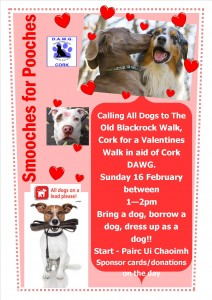 Smooches for Pooches 2014 walk poster