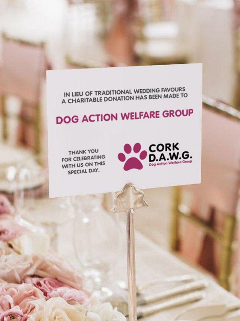DAWG Charity Wedding Favours - DAWG
